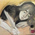 Девушка за письмом. Алиса_Августович
